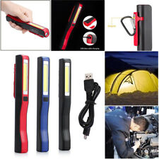 Flexible Rechargeable Hand Torch Lamp Work Lights COB LED Magnetic Inspection AU