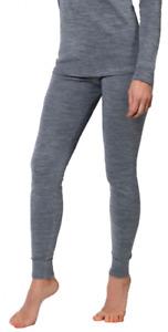Womens 100% Merino Wool dual shell Bottom base layer leggings Pants