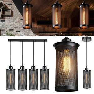 New Pendant Light Modern Vintage Industrial Retro Loft Cage Ceiling Lamp Shade