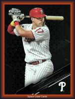 Rhys Hoskins Philadelphia Phillies Topps 2020 Chrome Black Baseball Card