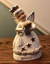 Napco Rare Zodiac Gemini Angel