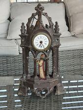 Horloge aux Moines sonne la cloche Fonctionne mécanique 19ème 36 cm