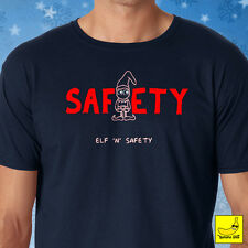 Elf and Safety Christmas T-Shirt Buddy Funny Gift Construction Xmas Helper Tee
