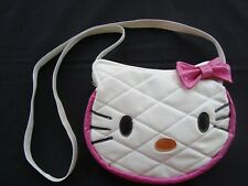 HELLO KITTY Purse White Leather W/Pink Trim Pink Bow Girls/Ladies Brand NEW