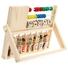 Kids Baby Wooden Early Education Math Developmental Versatile Flap Abacus Toys
