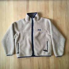 Vintage Patagonia Deep Pile Fleece Youth Size Oatmeal 90s