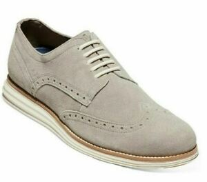 Cole Haan Original Grand Wingtip Oxford Gray Suede
