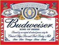 Budweiser Label Logo Tin Sign 16 x 13in