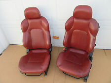 TIBURON FRONT SEAT BUCKET TRACK SEATS RED ORANGE DRIVER LEFT PASSENGER RIGHT CAR