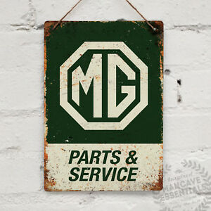 MG PARTS Replica Vintage Metal Wall sign Retro Garage Shed Dad B A Roadster F