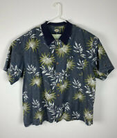 Men Tommy Bahama cotton rayon blend Hawaiian floral camp short sleeve shirt, XXL