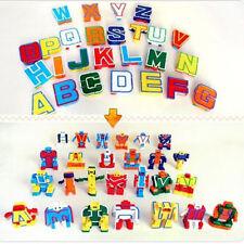 Kids Children Alphabet 26 Letters Transformer Robot Educational Intelligent Toy