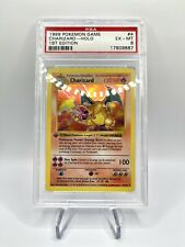 Thick Stamp 1st Edition Shadowless Charizard Holo 4/102 PSA 6