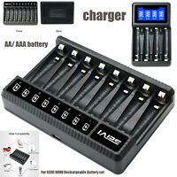 DC 4 Slots 8 Slots AA/AAA Battery Intelligent Rechargeable Charger Fit for SEIVI