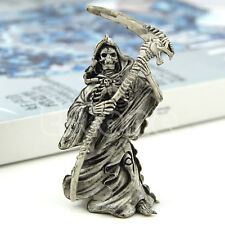 Ghost 3D Grim Reaper Skulls Devils Skeleton Sickle Car Pendant Key Chain Ring