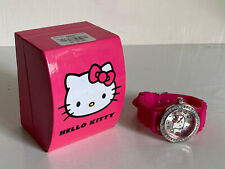 NEW! SANRIO HELLO KITTY PINK SILICONE STRAP COLORFUL DIAL WATCH HKAQ5186 $40