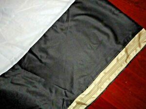 "CROSCILL AVALON BLACK TAN GOLD STRIPE (1) KING BEDSKIRT 18"" SPLIT CORNER"