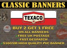 Classic Texaco Motor Oil Gas Retro Style Banner for Garage / Sign Red and White