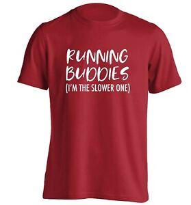 running buddies, slower one, t-shirt funny matching fitness workout bestie  6050