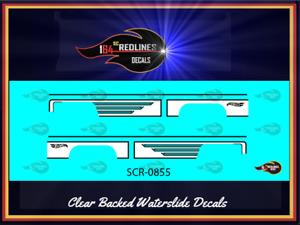 "1/64 '83 Chevy Silverado ""White Side Panels"" Replica Decal SCR-0855"