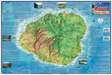 Kauai Hawaii Adventure Guide Map Laminated Poster by Franko Maps