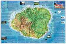 Kauai Hawaii Adventure Guide Map Laminated Poster by Franko Maps
