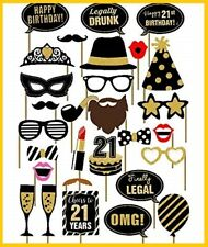29PCS 21st Old Year Birthday Party Supplies Masks Favor Photo Booth Props