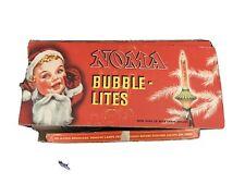C6 Noma Bubble Lights in Box - 9 Vintage Christmas Lites