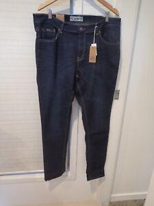 "Denim Men navy skinny medium rise stretch jean size 40"" waist 33"" inside leg NEW"