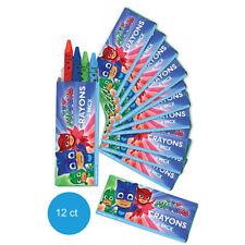 P J Masks Party Supplies Favours 12 Mini CRAYON BOXES