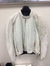 Michael Jordan Mens Motorcycle Jacket White Suede