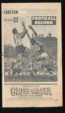 1969 VFL Football Record Carlton v Richmond August 23 Blues Tigers