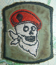 PATCH - French Foreign Legion - DEATH'S HEAD - RED BERETS - Vietnam War - 1095