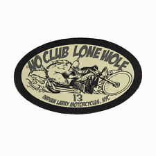 Biker Chopper Indian Larry no club Lone Wolf cuero genuino Patch Leather Patch