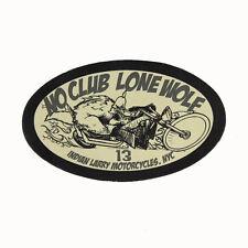 Biker Chopper Indian Larry no club Lone wolf en cuir véritable écusson Leather patch