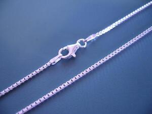 Genuine Sterling Silver 925 - Box Link Chain / Necklace - 45cm  X 1.1mm - 3g