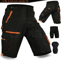 MTB Cycling Short Off Road Cycle CoolMax Padded Liner Sports Shorts M, L, XL