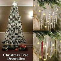 Christmas Icicle Xmas Tree Hanging Ornament Party Xmas New Year Decoration New