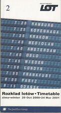 LOT Polish Airlines system timetable 10/29/00 [5012]
