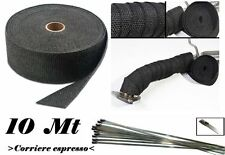 Fasce benda termica Fiber Glass collettori per auto e moto Universale Nero Black