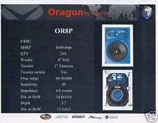 Pair of Oragon by Klipsch In Wall Stero Speakers OR8P