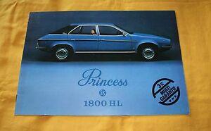 Austin Princess 1800 HL 1977 (CH) Prospekt Brochure Catalog Depliant Prospetto