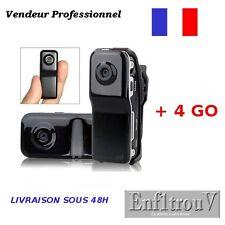 Mini DV Caméra Sport Espion MD80 + Micro SD HC 4 Go Détection de Présence 4Go