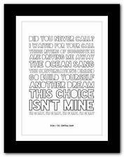 More details for r.e.m.- so. central rain  ❤ song lyrics typography poster art print - a1 a2 a3