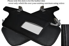 GREY STITCH FITS SUBARU LEGACY 1998-2003 2X SUN VISORS LEATHER COVERS ONLY