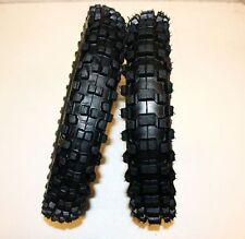 "New 60/100- 14"" Front 80/100- 12"" Rear Knobby Tyre Tire + Tube PIT Dirt Bike"