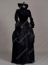 Black Renaissance Winter Queen Velvet Game of Thrones Dress Theater Gown 331 L