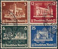 Stamp Germany Mi 576-79 1935 Block WWII 3rd Reich Ostropa From Sheet Used