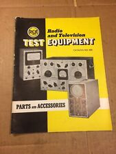 Vintage 1940 RCA Radio & Television Test Equipment Parts Accessories Catalog 105