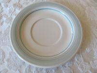 Impressions by Daniele Riverside/Blue Mist-Blue Rim- Saucer(s)-Up to 9 Avail